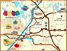 Around & About - Orlando Map